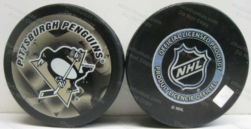 Penguin Logo Shadow Style Official In Glas Co Puck