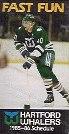 1985-86 Whalers Schedule - Ron Francis Cover