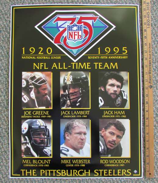 Steelers 1995 75th Anv Poster