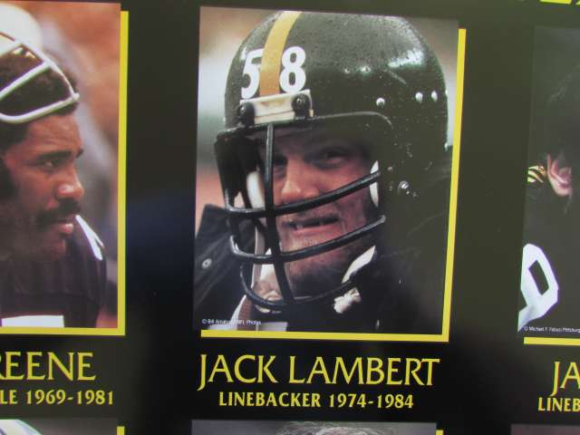 Steeler Poster 1995 75th Anniversary All Team