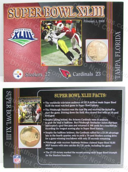 Steelers Super Bowl 43 Commorative Coin