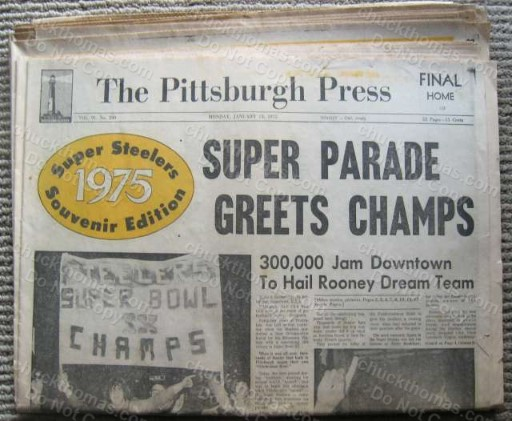 Steelers 1975 SB Original Pittsburgh Press