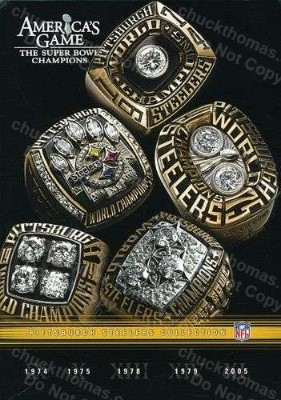 Steelers FIVE Super Bowl Victories 5 DVD Disc Set