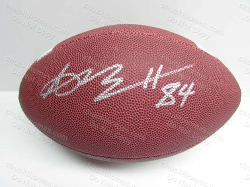 Steeler Receiver Antonio Brown Autographed Full Size Football with a GAI Certificate