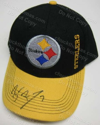 Ben Roethlisberger Autographed Black and Gold Ball Cap