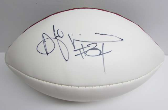 Steeler Running Back De Angelo Williams FULL Size Autographed Football