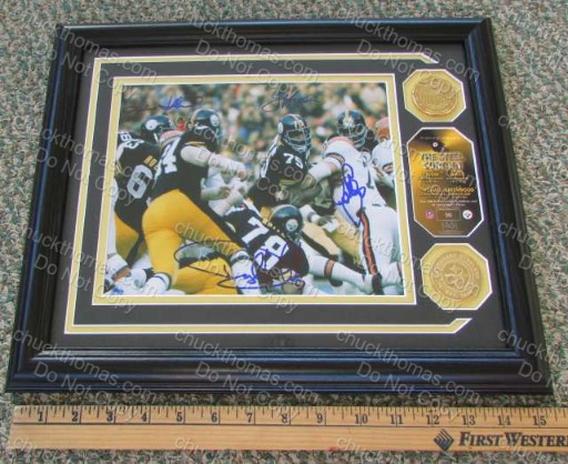 Steeler Front 4 Steel Curtain 1970s Autographs