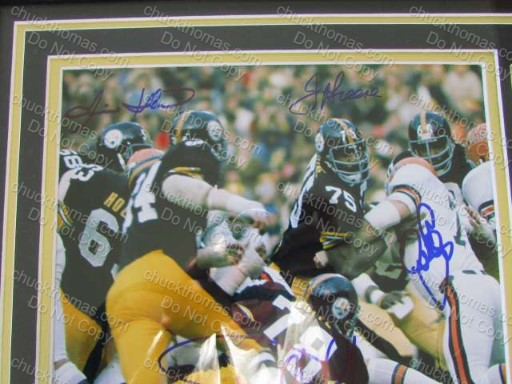 Steelers 1970s Autographs Steel Curtain