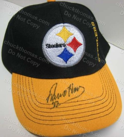 Steeler Franco Harris Signed Black and Gold Ball Cap