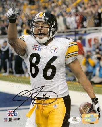 Steeler Receiver Hines Ward Signed Framed Photo with a James Spence Certificate