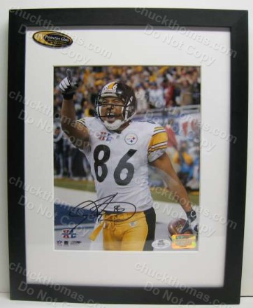 Hines Ward Autographed Photo Matted and framed with a JSA COA