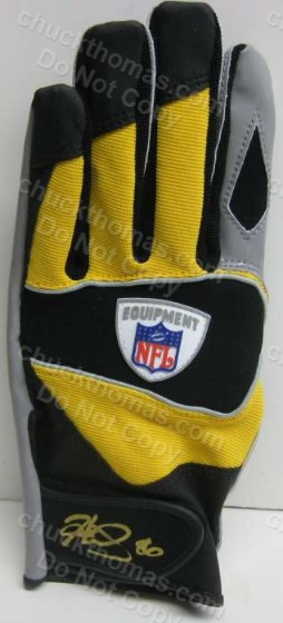 Hines Ward Game Issue Glove with an ACE COA
