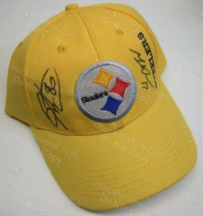 Steelers Hines Ward and Mike Wallace Signed Ball Cap