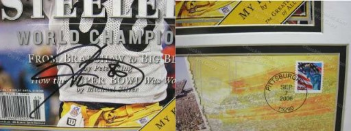 SB 40 Double Matted Sports Illustrated Cover Signed by Hines Ward