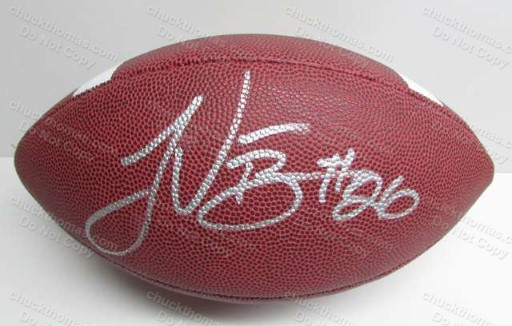 Steeler Running Back LeVeon Bell Autographed Full Size Football with a GAI Certificate