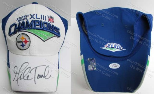 Steelers Head Coach Mike Tomlin Autogaphed Super Bowl 43 Champions NEW Ball Cap