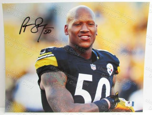 Steeler Ryan Shazier Autographed 11x14 Photo with a Global Certificate