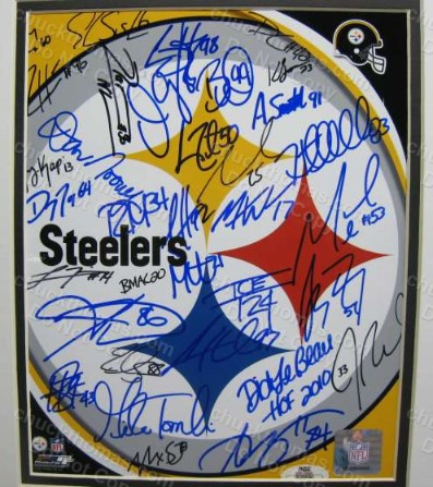 Steeler 2012 Team Auto Photo Matted with a Heinz Field Cachet