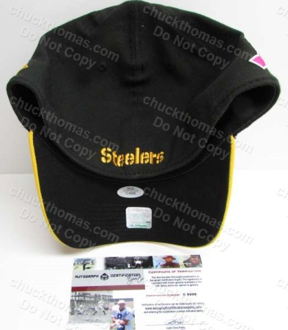 Steeler Great Troy Polamalu Signed Ball Cap
