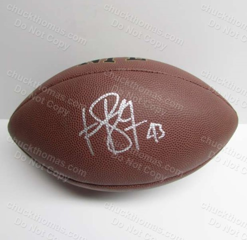 Steeler Troy Polomalu Autographed FULL Size Wilson Football with an ACE COA