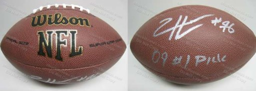 Steeler Ziggy Hood Autographed Football