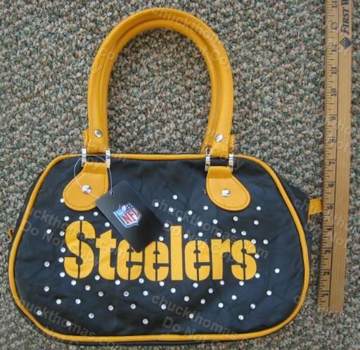 Steeler Black and Gold Purse with Rhinestones
