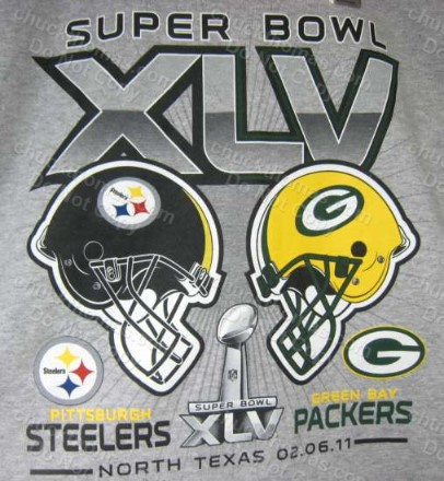 Steelers and Packers Super Bowl 45 Tee Shirt