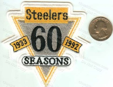 Steelers 60th Anv Patch