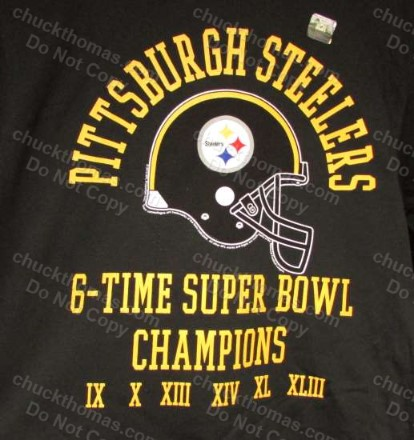 Steelers 6 Times Superbowl Champions Tee Shirts M-2XL