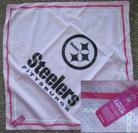 Steeler Breast Cancer Scarf