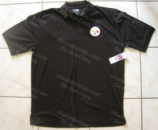 Steeler Black Polo Shirt XL, 2XL, 3X, 4X, 5X, 6X