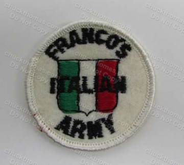 Frano Harris ORIGINAL Frano's Italian Army 2 Inch Patch