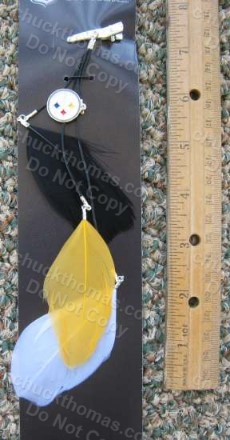 Steelers 3 Color Feather Hair Clip