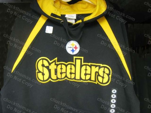 Steeler Black and Gold Hooded Sweat Shirt
