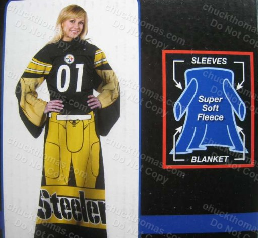 Steeler Huddler Blanket with Sleeves