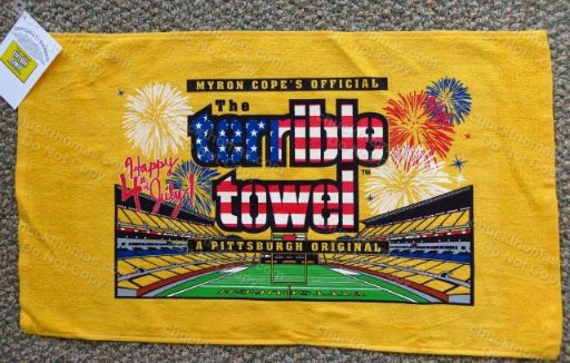 Steelers Happy 4th of July Patriotic Terrible Towel