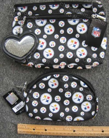Steeler Makeup or Clutch Purse