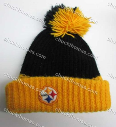 Steelers 1980s Knit Tossel Hat