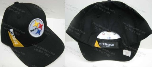 Steelers Black and Gold Steel Logo Ball Cap