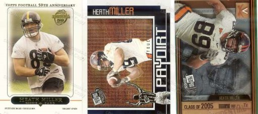Heath Miller 3 Trading Cards