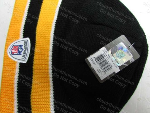 Steeler On Field Reebok Brand Knit Hat
