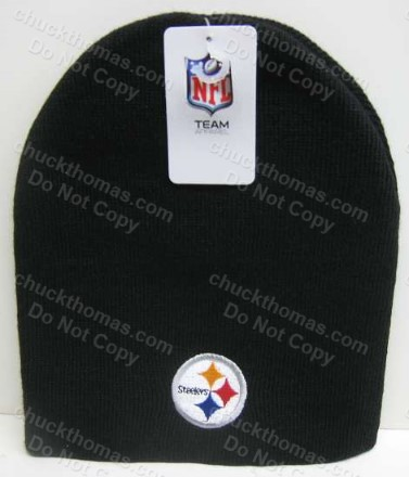 Steelers Black Steel Logo Skull Hat