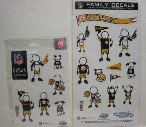 Steelers Kids and Family Car Decals