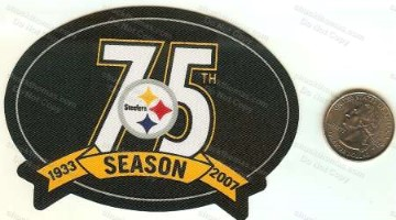 Steeler 2007 75th Anniversary Twill Patch