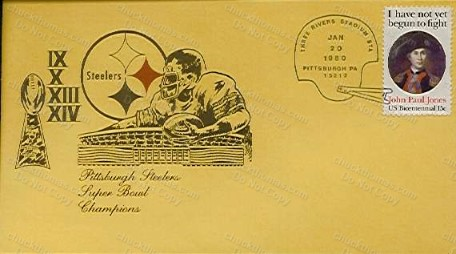 1980 Steeler Super Bowl Champs Postal Cachet