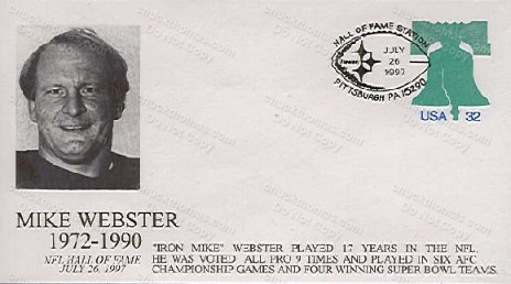 Mike webster HOF Postal Cachet
