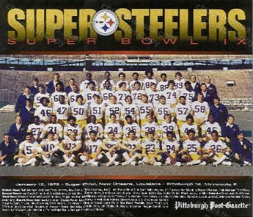 1975 Steeler Color Team Poster