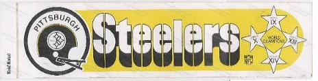 Steeler Bumper Sticker
