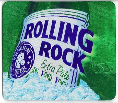 Rolling Rock Logo Mouse Pad